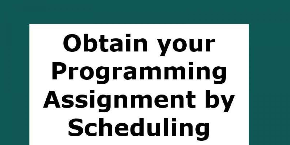 Obtain your Programming Assignment by Scheduling Skilled