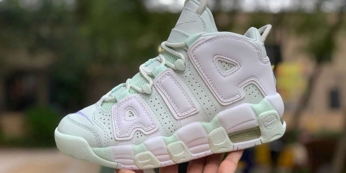 Worthly Collection For Cheap Nike Girl's Air More Uptempo Barley Green 917593-300