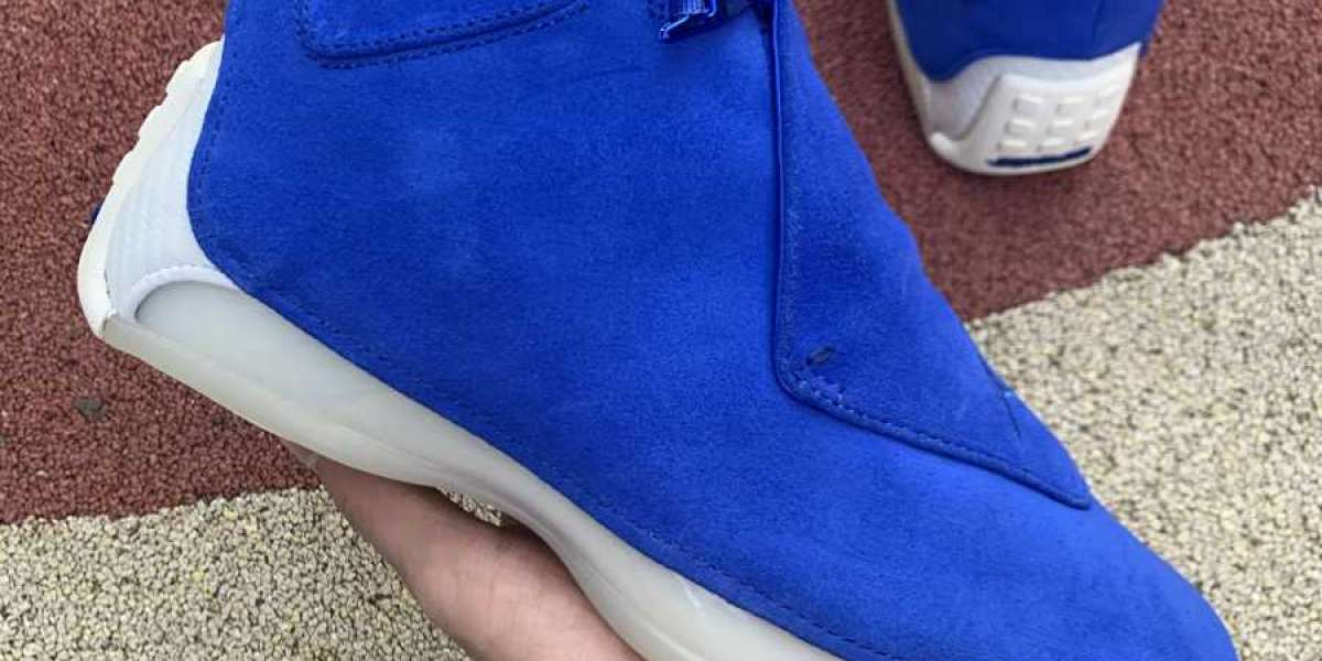 2020 Air Jordan 18 Retro 'Blue Suede' aa2494-401 UK Hot Sell