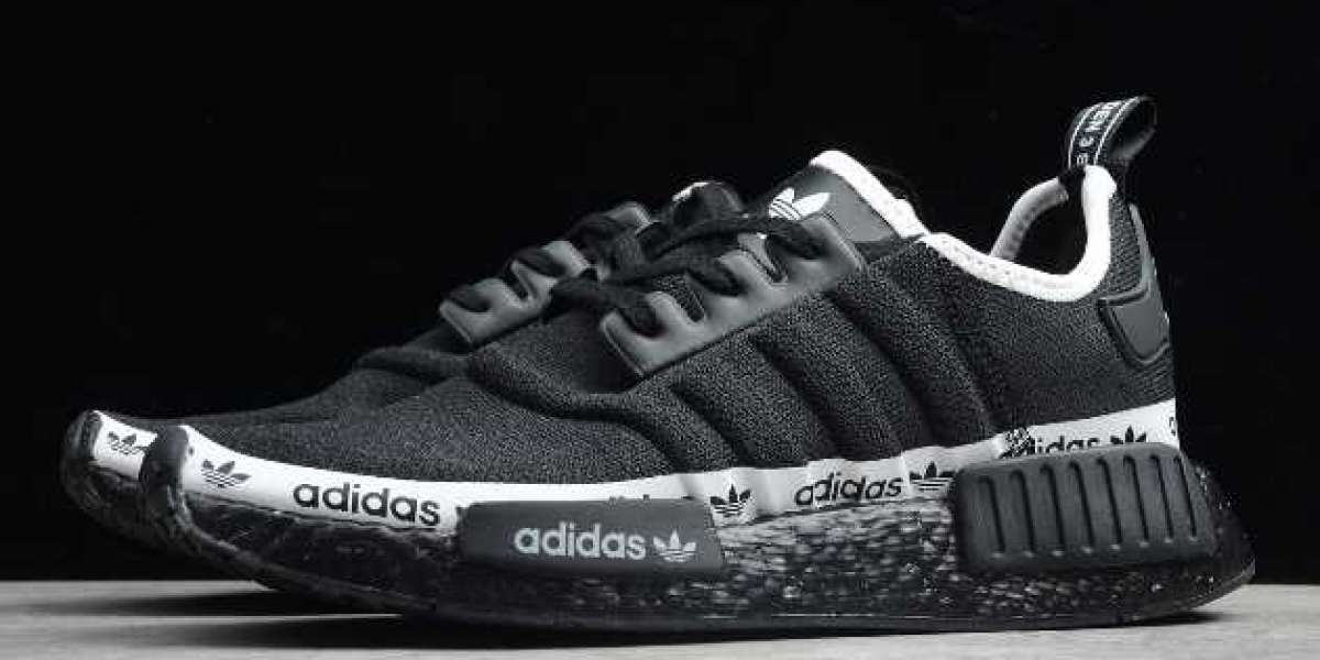 """2020 New adidas NMD R1 """"Black Tape Logo"""" For Wholesale FV7307"""