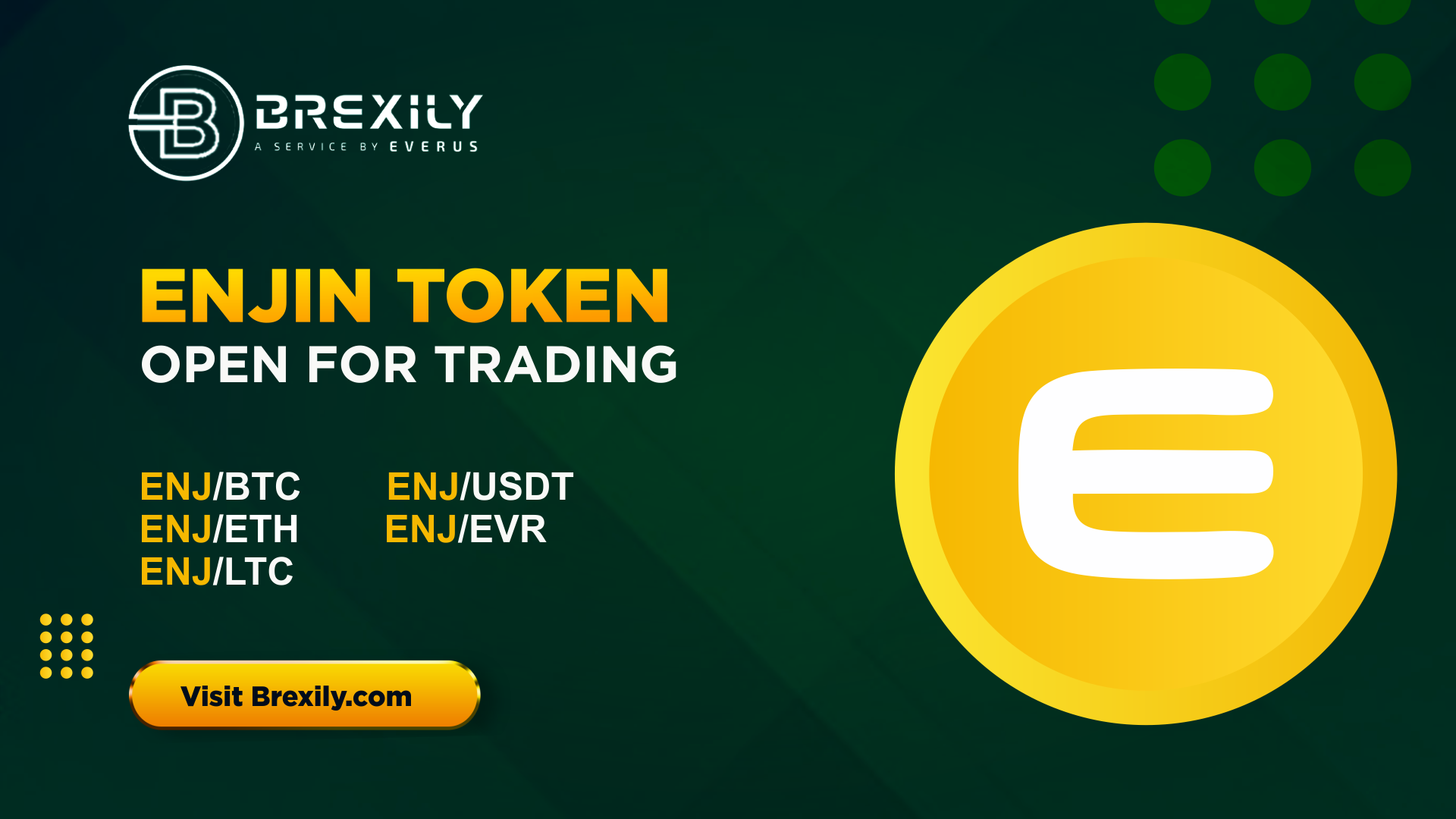 Enjin Token has been listed on BREXILY - Brexily
